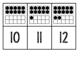 Matching Cards 11 to 20 Ten Frames