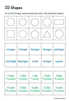 Math Matching Cards - 42 different pages