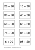 Matching Cards - Addition computation strategy - add 2-digit numbers