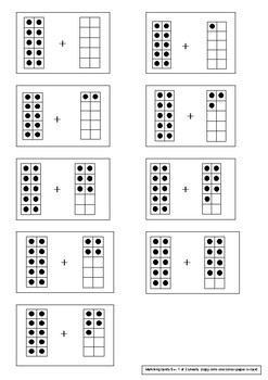 Matching Cards - Addition strategy 1-digit numbers (ten-frame representation)