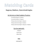 Matching Cards - Degrees, Radians, Coterminal Angles