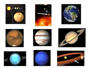 Matching Cards/ Flash Cards Planets