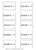 Matching Cards - Near Double basic addition facts (4 cards)