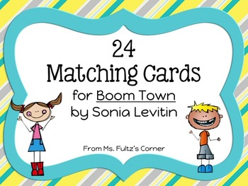 Boom Town Matching Vocabulary Cards