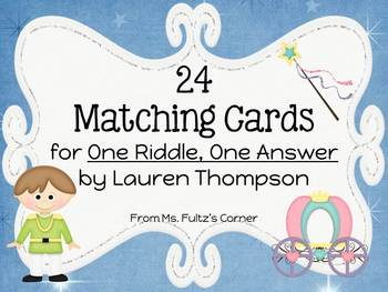 One Riddle, One Answer Matching Vocabulary Cards