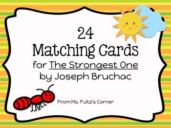The Strongest One Matching Vocabulary Cards