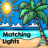 Matching Christmas Lights File Folder Game