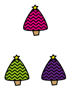 Matching Colorful Holiday Trees  File Folder Game