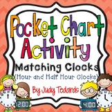 Matching Clocks Pocket Chart Activity