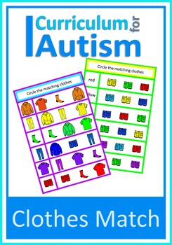 Matching Clothes & Colors Autism Special Education, Write
