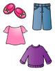 Matching Clothing File Folder Game