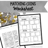 Matching Coins Worksheet