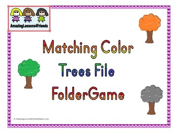 Matching Color Trees File Folder Game