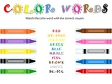Matching Color Words