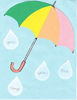 Matching Colored Umbrellas to Raindrops