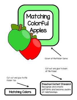 Matching Colorful Apples