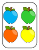 Matching Colorful Apples File Folder Game