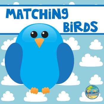 Matching Colorful Birds File Folder Came