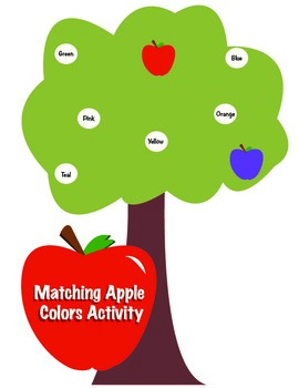 Matching Colors Apples Activity