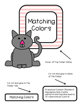 Matching Colors--File Folder Game