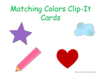 Matching Colors Clip-It Cards