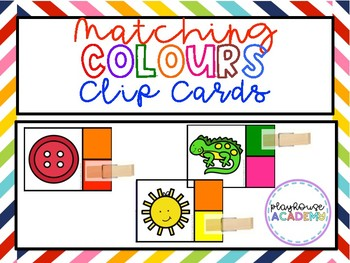 Matching Colours / Colors Clip Cards