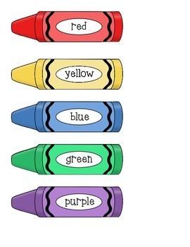 Matching Colors File Folder Game