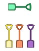 Matching Colors File Folder Game--Buckets and Shovels