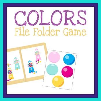 graphic regarding Printable File Folder Game identified as Matching Hues Record Folder Sport, Printable Worksheet, Serene Guide Sport