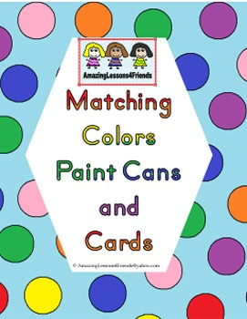Matching Colors Paint Cans and Cards set 2