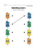 Matching Colors Preschool Worksheets – Popsicles