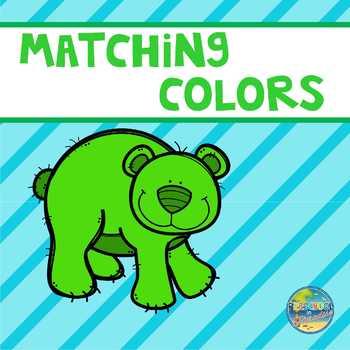 Matching Colorful Bears File Folder Game