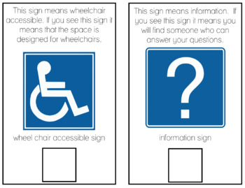 Matching Community Signs Adapted. Book Bundle