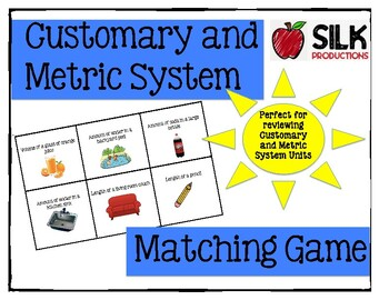 Matching Customary and Metric Units