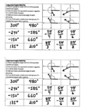 Matching Degrees, Radians, and Angle Graphs Activity
