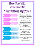 Matching Derivatives Quiz