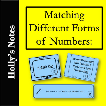 Matching Different Forms of Numbers: Standard, Expanded and Word Forms