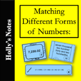 Matching Different Forms of Numbers: Standard, Expanded an