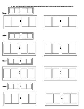 Matching Digital Time to Digital Time Worksheets