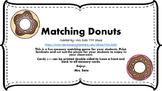 Matching Donuts Memory Game