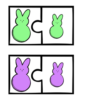 Matching Easter Peeps -File Folder