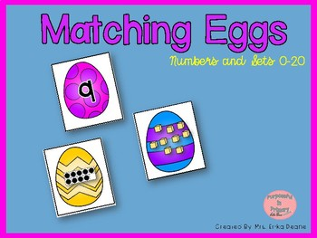 Matching Eggs! Ordering & Matching Numbers and Arrangements to 20