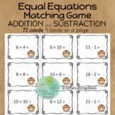 Equal Equations Matching Game