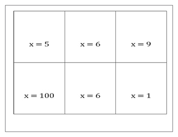 Matching Equations ~ Memory Game