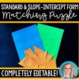 Matching Equations - Standard vs Slope-Intercept Editable Puzzle