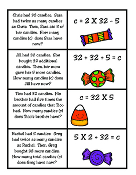 Matching Equations (TEKS 4.5A)