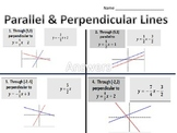 Matching-Equations and Graphs of Parallel and Perpendicular Lines