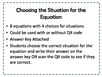 Matching Equations and Situations