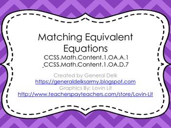 Matching Equivalent Equations