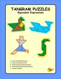 Matching Equivalent Expressions To Solve Tangram Puzzles